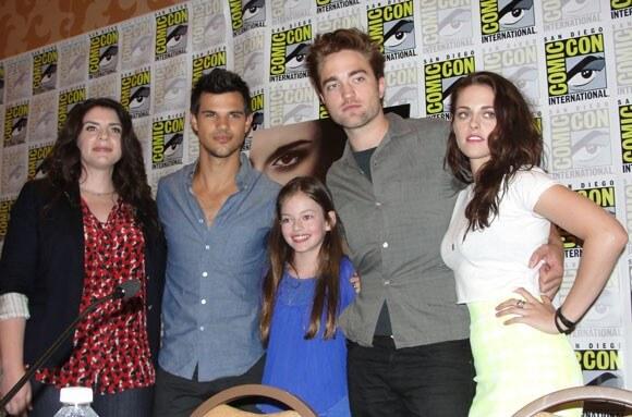 Stephenie Meyer, Taylor Lautner, Robert Pattinson, and Kristen Stewart