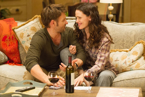 Joel Edgerton and Jennifer Garner in The Odd Life of Timothy Green.