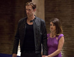 Alexander Skarsgård and Lucy Griffiths in True Blood