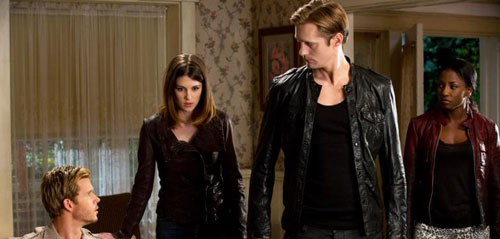 Ryan Kwanten, Lucy Griffiths, Alexander Skarsgard and Rutina Wesley in True Blood