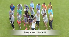 US Women's Soccer Team Party in the USA