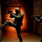 Karl Urban and Olivia Thirlby in 'Dredd 3D'