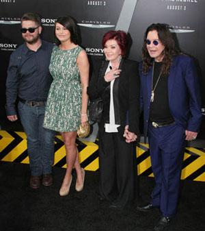 Jack, Lisa, Sharon and Ozzy Osbourne