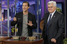Bear Grylls and Jay Leno