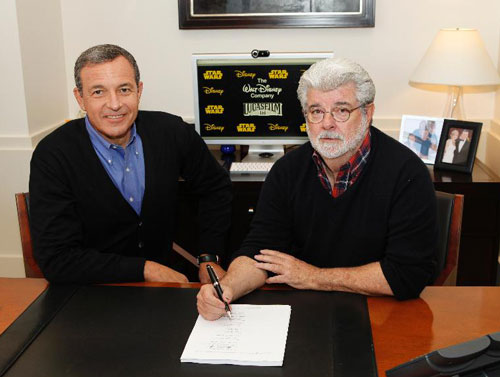 Robert Iger and George Lucas