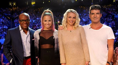 L.A. Reid, Demi Lovato, Britney Spears and Simon Cowell