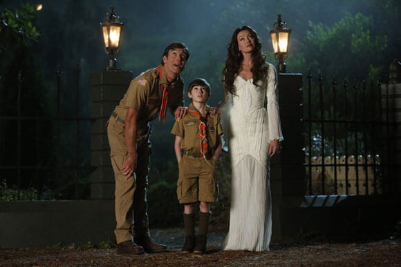Mockingbird Lane Cast Jerry OConnell, Mason Cook and Portia de Rossi