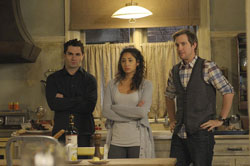 Sam Witwer, Meaghan Rath and Sam Huntington in Being Human