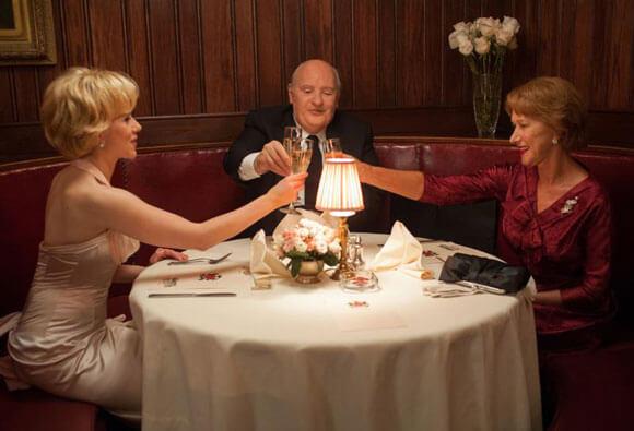 Scarlett Johansson, Anthony Hopkins and Helen Mirren in Hitchcock