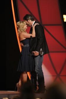 Miranda Lambert and Blake Shelton at the 46th Annual CMA Awards