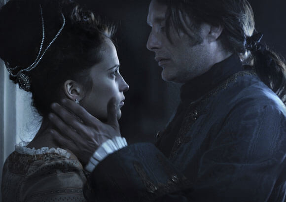 Alicia Vikander and Mads Mikkelsen in A Royal Affair