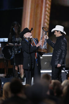 Willie Nelson and Brad Paisley