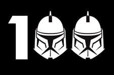 Star Wars The Clone Wars 100th Episode Logo