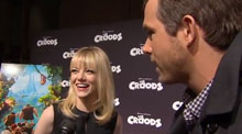 Emma Stone and Ryan Reynolds from The Croods
