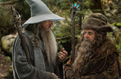 Ian McKellen as Gandalf and Sylvester McCoy as Radagast