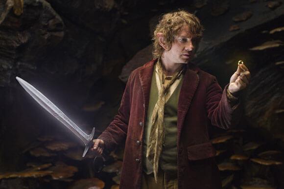 Martin Freeman as Bilbo Baggins in 'The Hobbit: An Unexpected Journey'