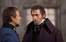 Russell Crowe and Hugh Jackman in Les Miserables
