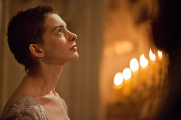 Anne Hathaway in a scene from Les Miserables