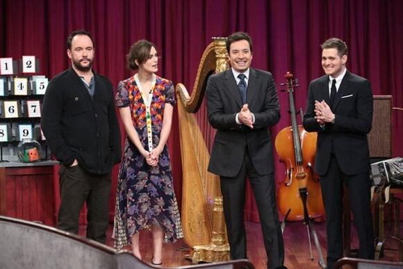 Dave Matthews, Keira Knightley, Jimmy Fallon, and Michael Buble