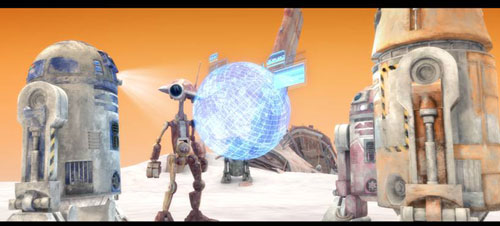 A scene from 'Star Wars: The Clone Wars' Episode 11 Season 5