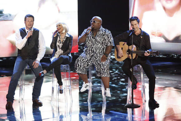 Blake Shelton, Christina Aguilera, CeeLo Green, Adam Levine The Voice