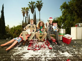Anders Holm, Blake Anderson, and Adam Devine from 'Workaholics'