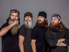 Phil, Si, Jase and Willie Robertson in Duck Dynasty