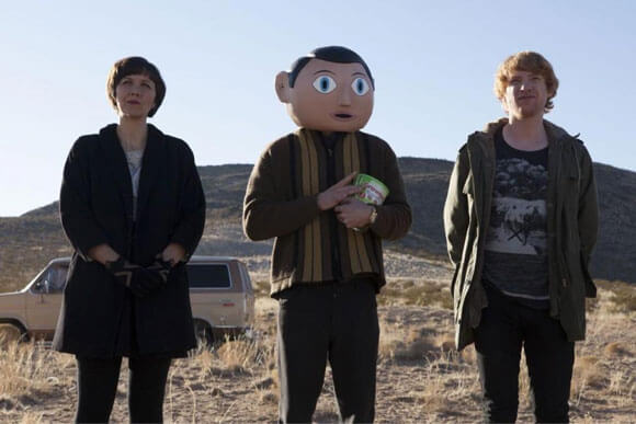 Frank Photo with Maggie Gyllenhaal, Michael Fassbender and Domhnall Gleeson