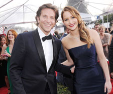 Bradley Cooper and Jennifer Lawrence at the 2013 SAG Awards