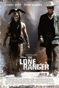 The Lone Ranger Johnny Depp Armie Hammer Poster