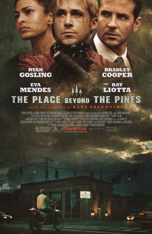 The Place Beyond the Pines Poster with Ryan and Bradley