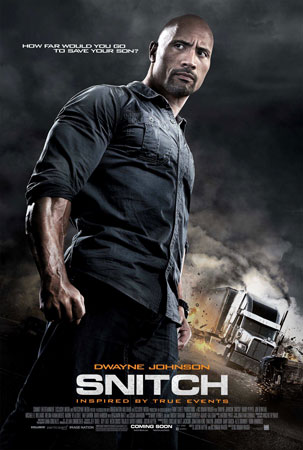 Snitch Movie Poster with Dwayne Johnson