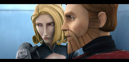 A scene from 'Star Wars: The Clone Wars'