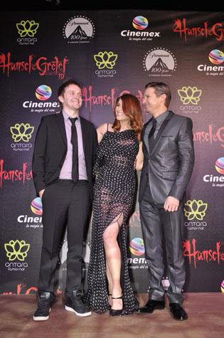 Tommy Wirkola, Gemma Arterton and Jeremy Renner