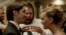 Justin Long and Jess Weixler in Best Man Down