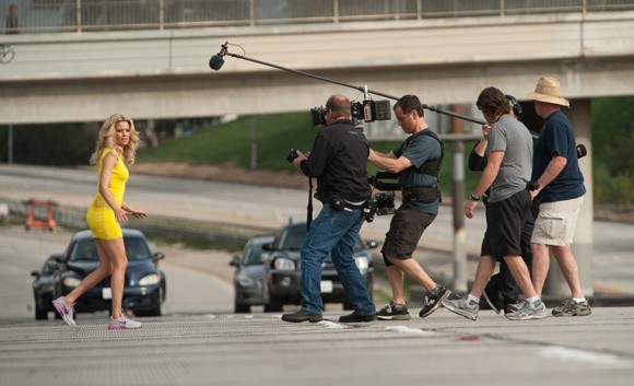 Elizabeth Banks Walk of Shame Freeway Shoot
