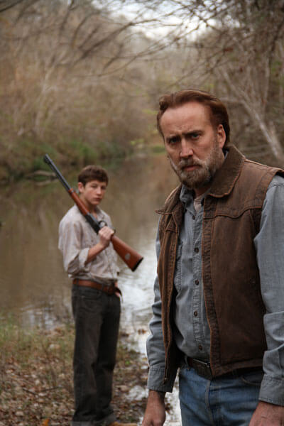 Tye Sheridan and Nicolas Cage in Joe