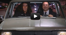 Kai the Hatchet Wielding Hitchhiker on Jimmy Kimmel Live