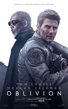 Morgan Freeman and Tom Cruise Oblivion Poster