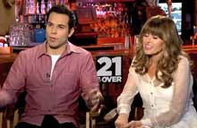 Skylar Astin and Sarah Wright star in 21 and Over