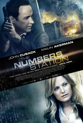 The Numbers Station Movie Poster with John Cusack, Malin Akerman