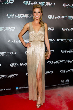 Adrianne Palicki attends the Australian Premiere of G.I. JOE: RETALIATION