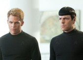 Chris Pine and Zachary Quinto in Star Trek Into Darkness
