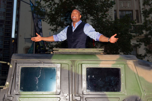 Dwayne Johnson at the Australian GI Joe Premiere