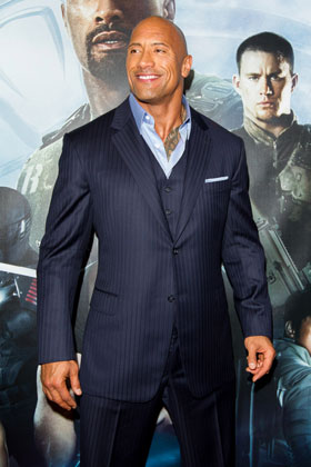 Dwayne Johnson at the GI Joe Australian Premiere