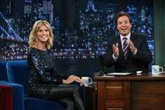 Heidi Klum visits Jimmy Fallon in July 2012