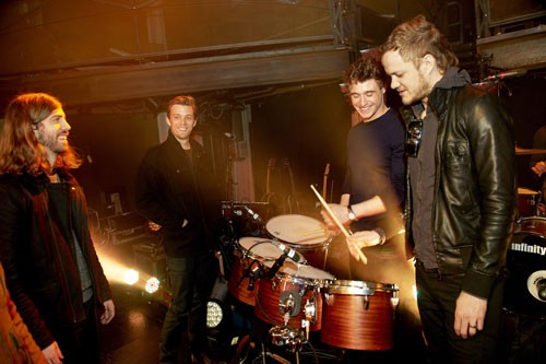 Imagine Dragons, Jake Abel, and Max Irons (Photo credit: Tony Nelson)