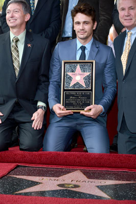 Leon Gubler and James Franco Walk of Fame