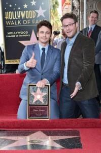 James Franco and Seth Rogen Walk of Fame Ceremony