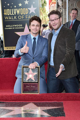 James Franco and Seth Rogen Walk of Fame Ceremony